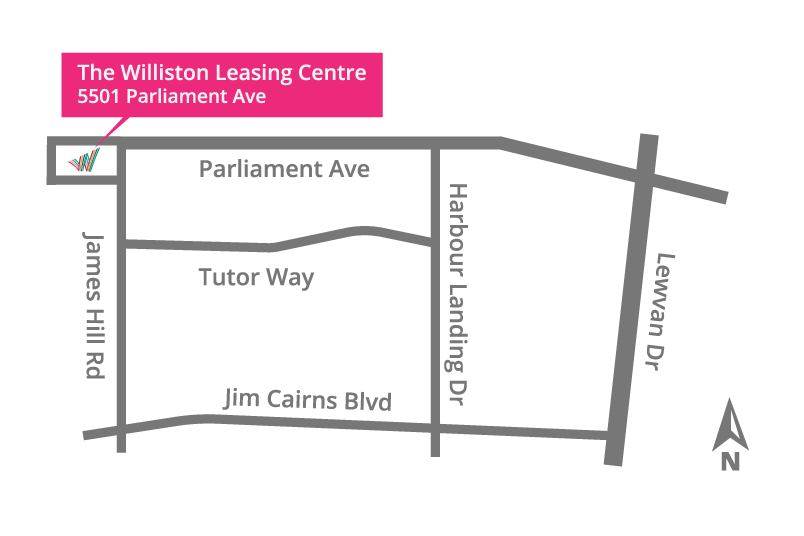 The Williston Leasing Centre Map Location